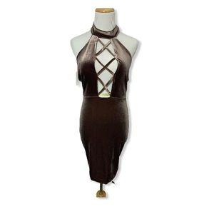 Missguided velvet dress size 2